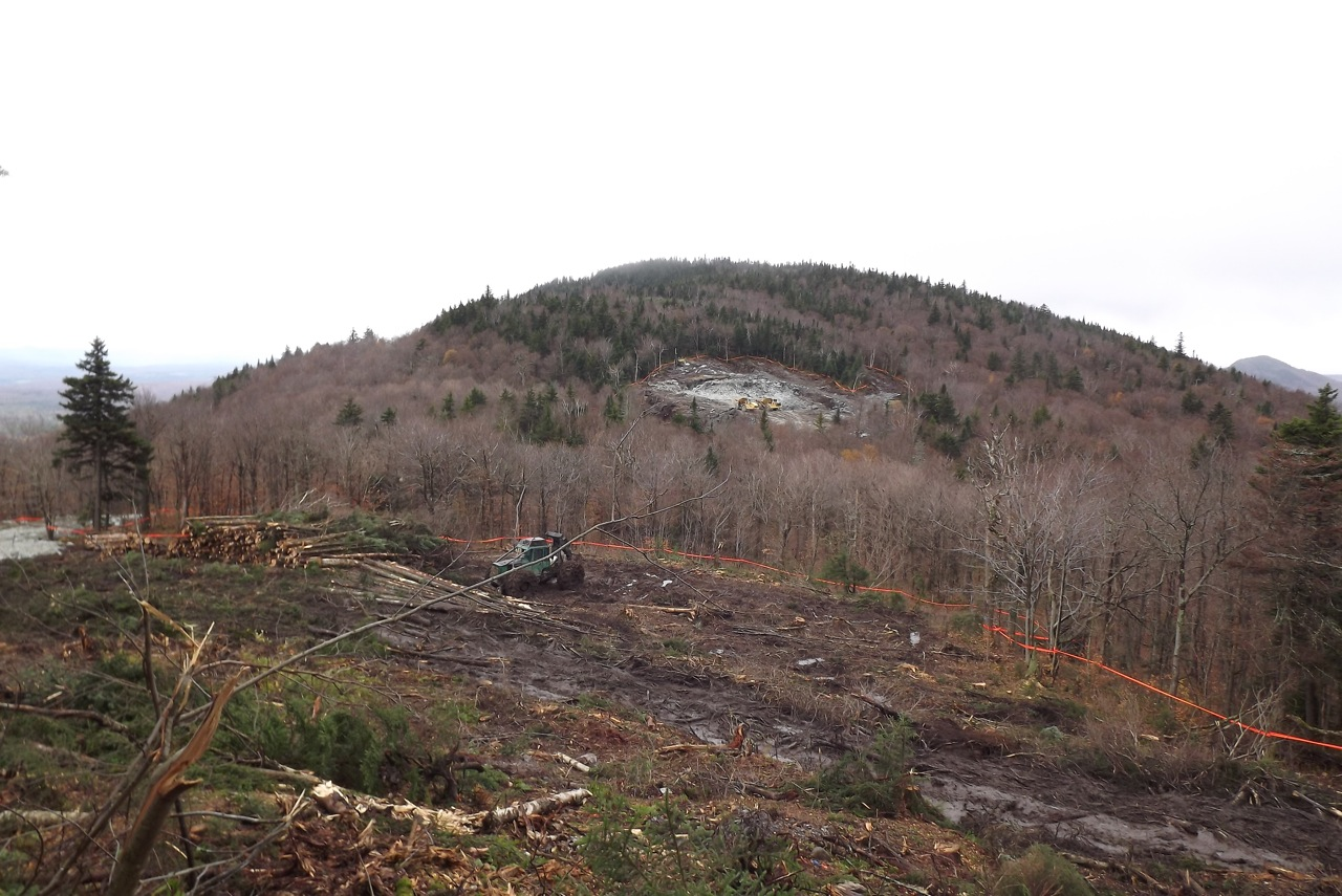 Destruction Of Lowell Mountain Vt Wind Energy Impacts