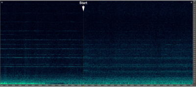 Figure 2: Macarthur wind farm start-up during a 5-hour spectrogram