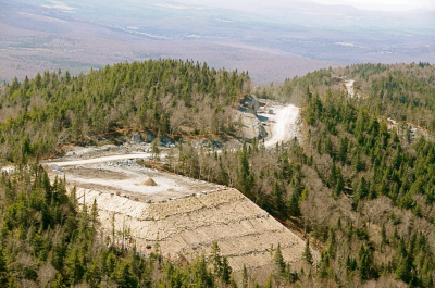One of 21 Wind Turbine Pads, Lowell Mountain, Vermont - Photo by Steve Wright