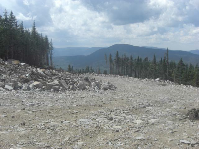 Sarne Roadway After Blasting on Way to Mt. Kelsey, Coos County, New Hampshire - Granite Reliable Wind Project, Including Fish Brook Ridge, Owls Head and Mt. Kelsey