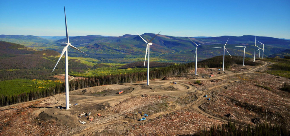 mountaintop removal wind project in BC